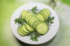 Cucumber  in dish Stock Photos