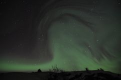 Ghostly aurora Stock Photography