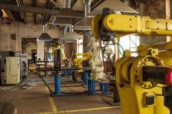 Welding robot line Royalty Free Stock Photo