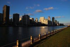 Riverside of NewYork Evening Sunset stock photography