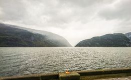 Norway landscape. Fairy tale of Norway fjords nature. royalty free stock photography