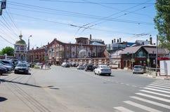 Volzhsky avenue, restaurant `At Vakano`, bar `At the bottom` stock photos