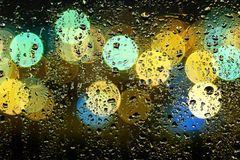 Picture of water drops on window Royalty Free Stock Images