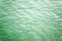 Picture of the water with little greeny-blue waves royalty free stock images