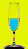 Picture of water in wineglass Stock Photo