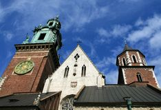 A picture of the Wawel Castle in Krakow Stock Images