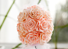 Picture of wedding bouquet of pink roses Stock Photos