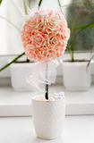 Picture of wedding bouquet of pink roses Royalty Free Stock Image