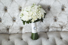 Picture of wedding bouquet of white roses Stock Photo