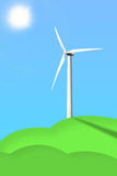 Picture of a wind generator. On the blue sky background Royalty Free Stock Images