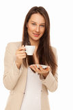 Picture of woman with cup of coffee Royalty Free Stock Photo