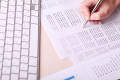 Picture of woman hand writing on paper Stock Photography