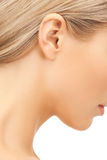 Picture of woman's ear Stock Photography