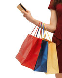 Picture of woman with shopping bags Stock Images