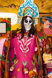 Picture of woman skeleton, catrina at Tepoztlan Mexico Stock Photos