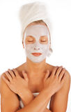Picture of woman during spa Royalty Free Stock Photo