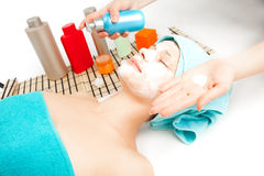 Picture of woman at spa procedures Royalty Free Stock Image