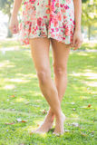 Picture of woman wearing floral dress Stock Image