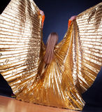 Picture of woman wearing wings Stock Image