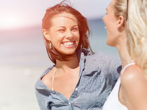 Picture women on the beach Stock Image