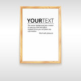 Picture wood frame, vector for image or text Royalty Free Stock Image