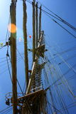 Picture of wooden sailing ship at parade Stock Photos