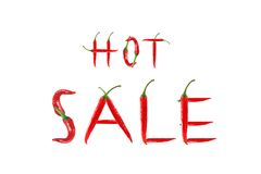 Picture of the word HOT SALE Royalty Free Stock Photography