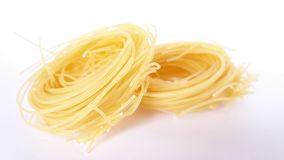 Pasta. Picture of yellow pasta for soup Stock Image