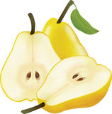 Picture of yellow pears Royalty Free Stock Images