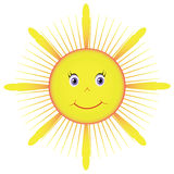 Picture yellow sun Stock Image