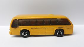 Yellow toy school bus. Picture of yellow toy school bus stock photography
