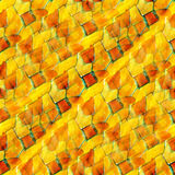 Picture yellow watercolor seamless red cubism Stock Photography