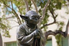 Yoda statue in San Francisco California stock image