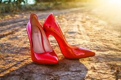 Women`s shoes royalty free stock image