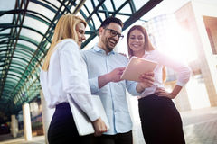 Picture of young attractive business partners standing Royalty Free Stock Image