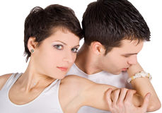 Picture of a young couple in love Stock Images