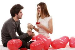 Picture of a young couple, valentine day concept Royalty Free Stock Photos