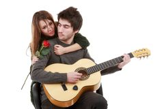 Picture of a young couple, valentine day concept Stock Photography
