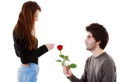 Picture of a young couple, valentine day concept Royalty Free Stock Photography