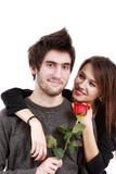 Picture of a young couple, valentine day concept Stock Images