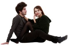 Picture of a young couple, valentine day concept Stock Image