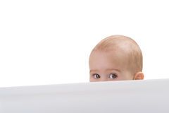 Picture of young curious girl Stock Images