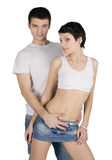 Picture of the young handsome couple Stock Photography