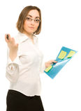 Picture of a young secretary Stock Photos