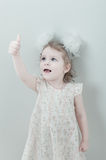 Picture of young smiling little girl Royalty Free Stock Photos