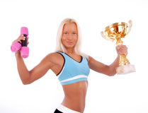 Picture of young winner Royalty Free Stock Image