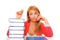 Books and girl Stock Images