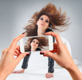 Picture of young woman Stock Images