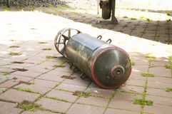 Aerial bomb from World War II. Pictured aerial bomb from World War II Royalty Free Stock Image