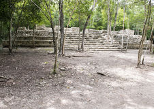 Ruins in the COBA Zona Arqueologica stock photography